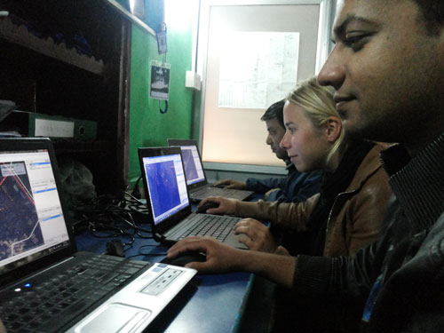 Mappers in Nepal, Mapping for the Philippines. From http://kathmandulivinglabs.org/blog/crisis-in-the-philippineswe-are-with-you/